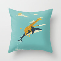 Onward! Throw Pillow by Jay Fleck | Society6