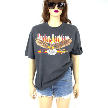 1988 Vintage HARLEY Davidson Shirt with Eagle XL Extra Large 80's Harley Shirt Motorcycle Shirt 80's t shirt Van Nuys Harley Made In USA D