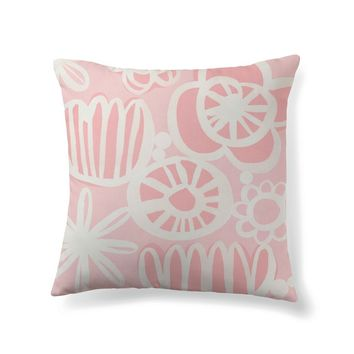 Pale pink floral pattern