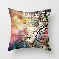 the Tree of Many Colors Throw Pillow by Caleb Troy