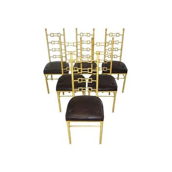 Pre-owned Hollywood Regency Dining Chairs - Set of 6