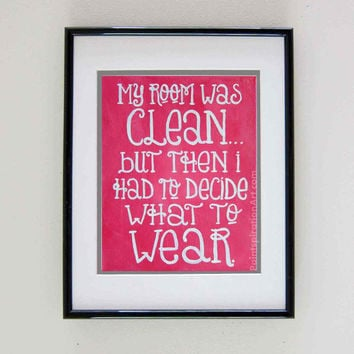 Quote Art Print Girls Room Art - Pink Artwork Typography Word Art - College Dorm Room Decor Funny Wall Art - Girly Wall Art Painting Prints