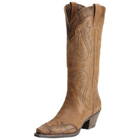Ariat Cowgirl Womens Heritage X Toe Wingtip Western Leather Boots