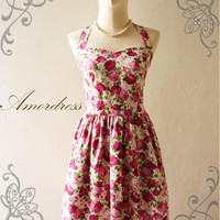 Amor Vintage Inspired Romantic Pink Rose Garden by Amordress