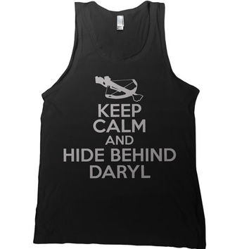 Keep Calm and Hide Behind Daryl Dixon Mens Tank Top - the walking dead t shirt zombie rick grimes tee amc tshirt tv show