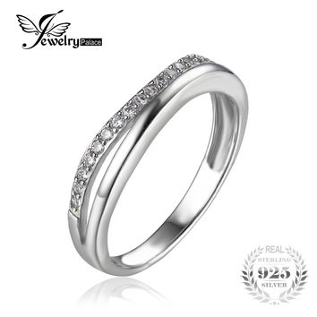 JewelryPalace Classic 925 Sterling Silver Anniversary Wedding Contour Guard Band Ring 2016 Fine Jewelry For Women