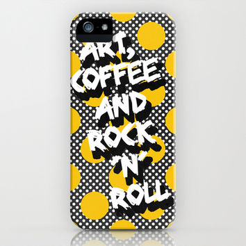Art, coffee and rock 'n' roll iPhone & iPod Case by Elisabeth Fredriksson | Society6