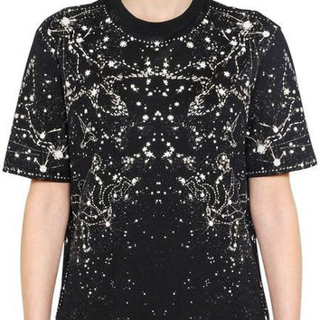Givenchy Black constellation-print cotton T-shirt