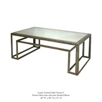 Louise Cocktail Table with Antique Mirror Top