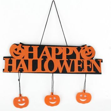 Halloween Decoration HAPPY HALLOWEEN Hanging Hangtag Halloween Window Decoration Halloween Pumpkin Hanging Strips