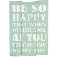 Be So Happy Wall Decor