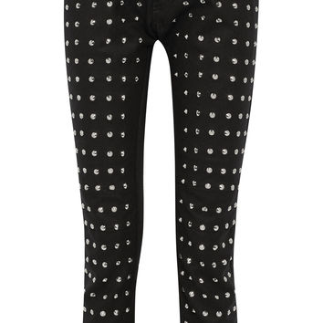 Junya Watanabe - Studded wool straight-leg pants