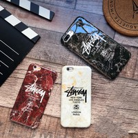The New Marble Pattern Stussy Print Iphone X/ 8 8 Plus/7 7 Plus/ 6 6s Plus Cover Case
