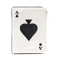 Ace Spade Leather Clutch