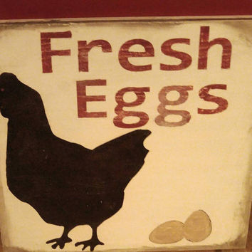 Rustic chicken decor-chicken sign-country sign-fresh egg sign-country decor-farmhouse decor