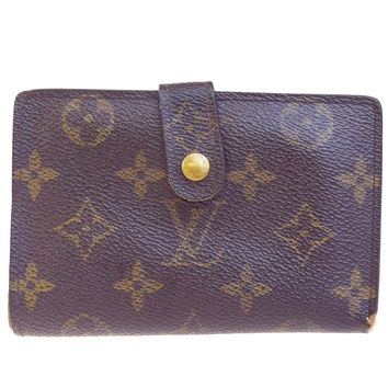 Auth LOUIS VUITTON Viennois Bifold Wallet Purse Monogram Leather M61663 09EC481