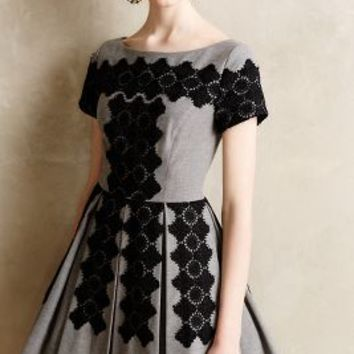 Melaena Embroidered Dress by Tracy Reese Dark Grey