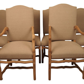 French Os du Mouton Dining Chairs, S/6