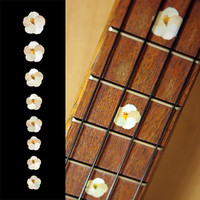 Hibiscus Flower Fret Markers For Ukulele Inlay Stickers Decals