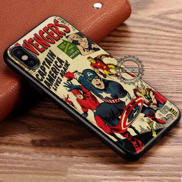 Classic The Avengers Comic Vintage iPhone X 8 7 Plus 6s Cases Samsung Galaxy S8 Plus S7 edge NOTE 8 Covers #iphoneX #SamsungS8