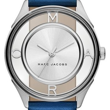 MARC JACOBS 'Tether' Skeleton Leather Strap Watch, 36mm | Nordstrom
