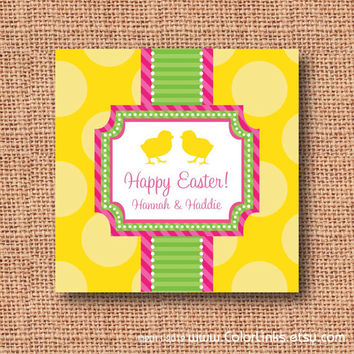 Colorlinks on etsy on wanelo personalized preppy easter gift tags or stickers by colorlinks negle Images