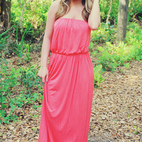 Oh My Heavens Dress: Coral