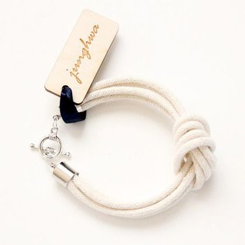 Rope Bracelet - Knot Bracelet - I Love Knots - As Seen In LuckyMag