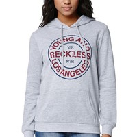 Young & Reckless Caliente Blocked Hoodie - Womens Hoodie - E. Heather Grey