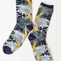 Large Pattern Boot Sock- Purple One