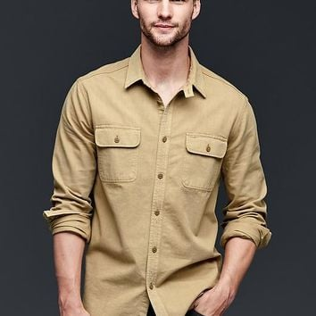 Gap Men 1969 Flap Pocket Worker Shirt