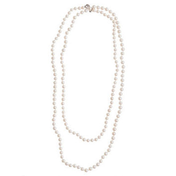 Collection opera-length pearl necklace