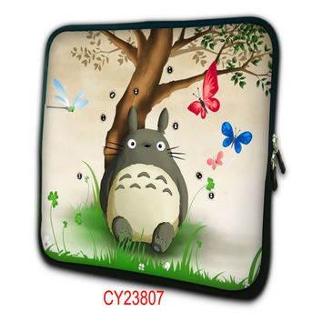 Totoro laptop sleeve bag 10 11.6 13.3 15 15.6 17 17.3 inch netbook handle sleeve case smart cover for Cool man and girl NS-23807