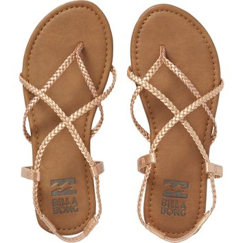 Billabong Women's Crossing Over Sandals | Rose Gold
