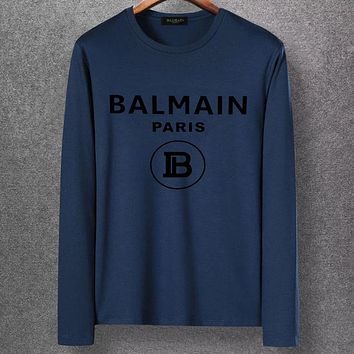 Boys & Men Balmain Casual Edgy Long Sleeve Top Tee