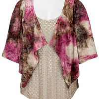 BKE Boutique Tie Dye Cardigan
