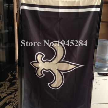 NFL New Orleans Saints Column Flag New 3x5ft 90x150cm Polyester Flag Banner 7089,  free shipping