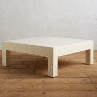 Mosaic Bone Coffee Table by Anthropologie in Ivory Size: L Furniture