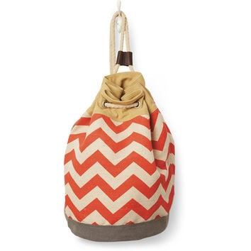 TOMS Chili Chevron Canvas Reef Drawstring Bag
