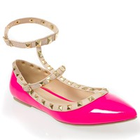 Brogan Rockstud Buckle Flats | Shoes | Kiki LaRue