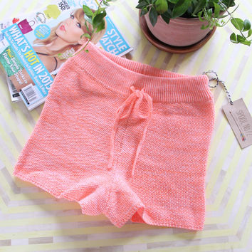 Peachy Knit Lounge Shorts