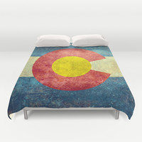 Colorado State Flag Duvet Cover by Bruce Stanfield | Society6