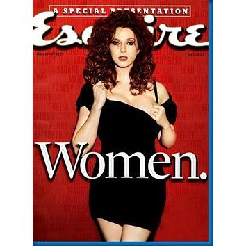 Christina Hendricks Esquire Magazine Cover poster Metal Sign Wall Art 8in x 12in