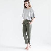 Arya Relaxed Trouser (Olive)