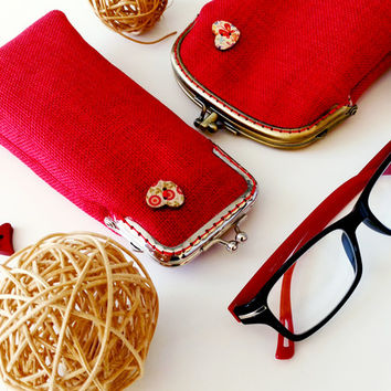 Valentines Red Eyeglasses Case