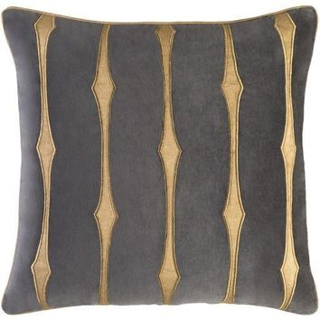 Graphic Stripe Pillow by Candice Olson