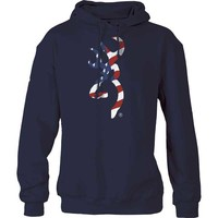 Browning Men's Patriotic Buckmark Hoodie Sweatshirt