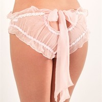 Damaris' Sugar Plum Silk Chiffon Bow Back Knicker - Damaris | Mimi Holliday | Max Holliday