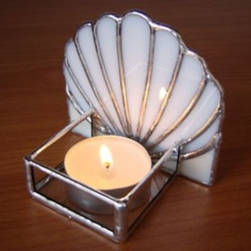 Scallop Shell Candle Holder