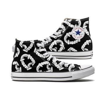 Plastic Fangs Halloween Converse High Tops